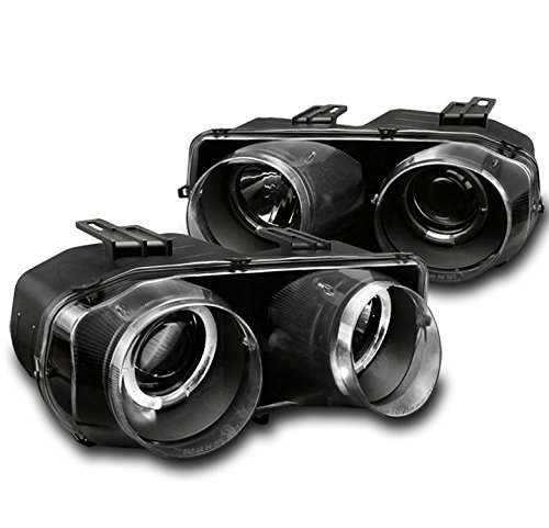 Jdm Projector Headlights - ZMAUTOPARTS Acura Integra Dual Halo Projector Headlight Lamp JDM Black LS RS Set