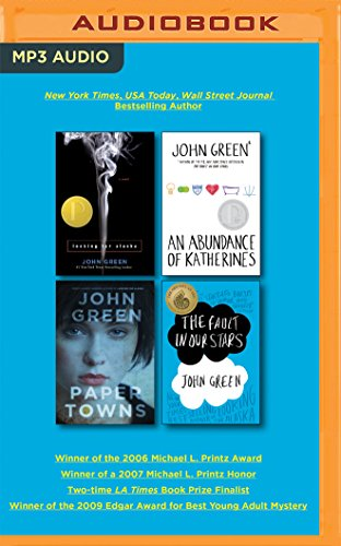 John Green Audiobook Collection on MP3-CD: Looking for Alaska, An Abundance of Katherines, Paper Towns, The Fault in Our Stars (Our Town Audio)