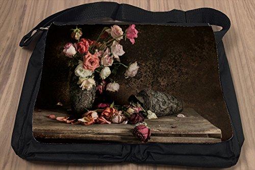 Borsa Tracolla Floreale Flora Natura morta fiori Stampato
