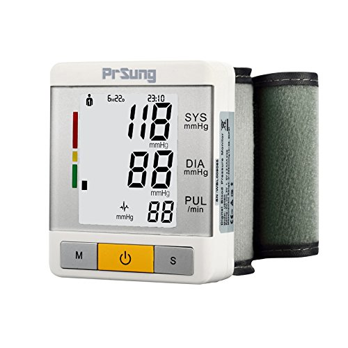 Automatic Digital Wrist Blood Pressure Heart Rate Monitor with LCD Screen (BLACK) - 8
