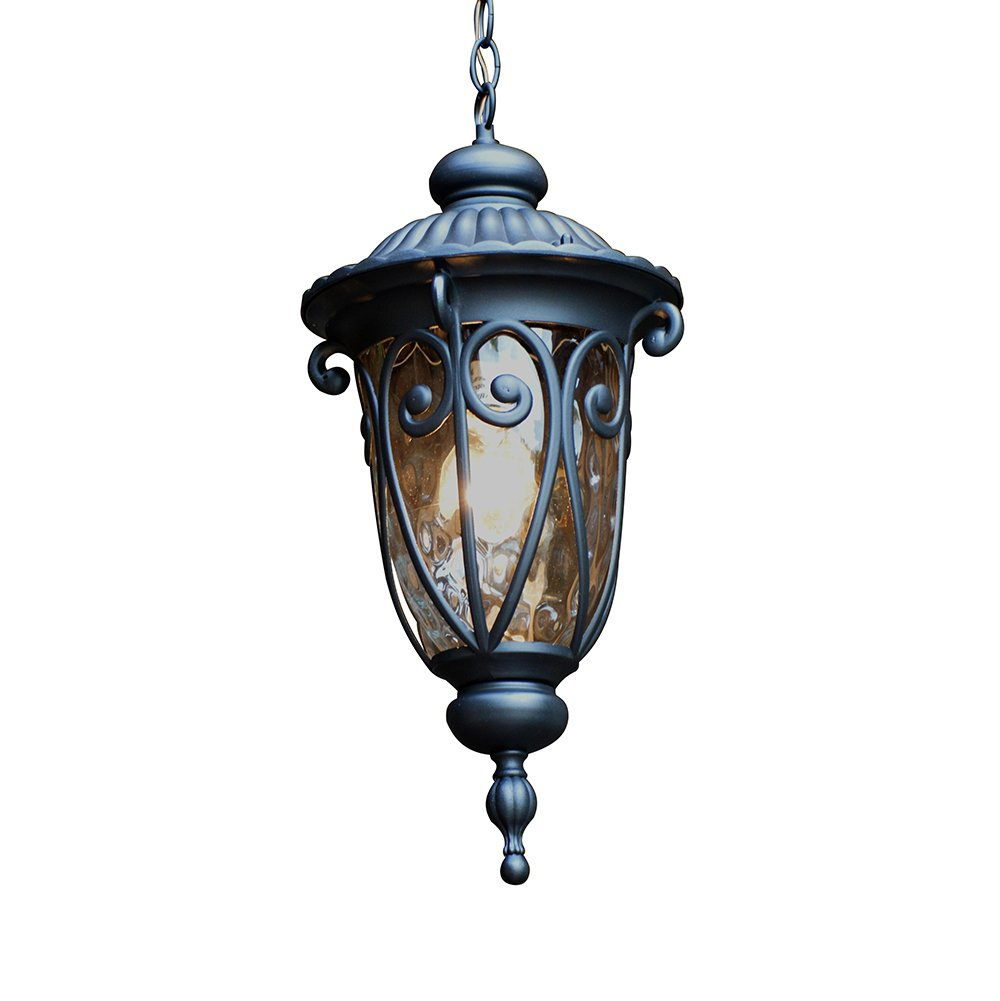 Y Decor EL591MHBL Hailee 1 Exterior Matte Black Finish Outdoor Hanging Light