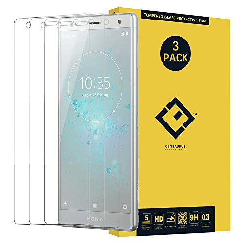Sony Xperia XZ2 Glass Screen Protector,(3 Packs) Anti-Glare Ultra-Thin Clear 9H Hardness Tempered Glass Protective Film for Sony Xperia XZ2 H8216 H8296 5.7