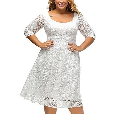 Peony Vintage Women's Plus Size Short Lace Cocktail Evening Dresses Maxi Dress