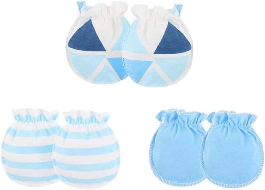 3 paia di muffin neonatale neonato senza muffole in cotone O