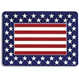Creative Converting Red, White and Blue Patriotic Plastic Large Serving Tray, 16 x 12""