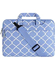 MOSISO Laptop Shoulder Bag Canvas Geometric Pattern Briefcase Sleeve