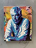 Anthony Bourdain Painting on Stretched Canvas 8x10 Inches Signed