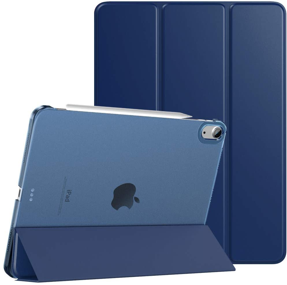 TiMOVO Case for New iPad Air 4th Generation, iPad Air 4 Case (10.9-inch, 2020), [Support 2nd Gen Apple Pencil Charging] Slim Stand Protective Cover Shell with Auto Wake/Sleep - Navy Blue