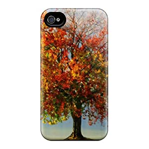 Iphone 4/4s Case Cover - Slim Fit Tpu Protector Shock Absorbent Case (colour Of Autumn)