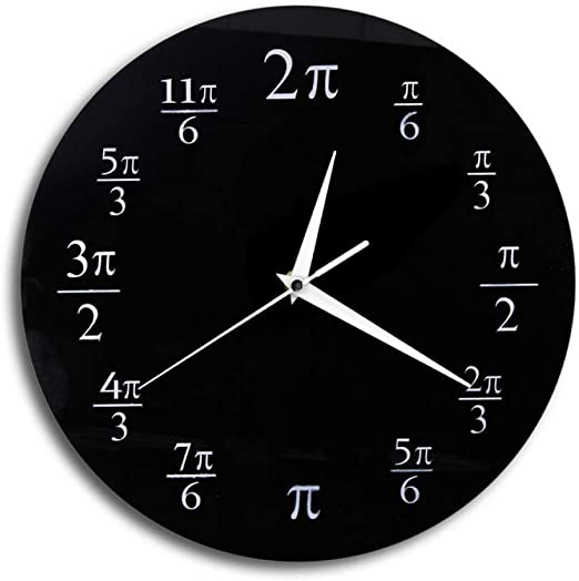 Amazon Com Wangjru The Pi Wall Clock Pop Quiz Math Major Clocks Geeky Home Decor For Math Enthusiasts Wall Watch Home Kitchen