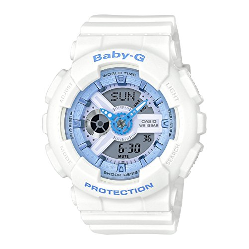 Casio BA110BE-7A White 44.7mm Resin Baby-G Womens Watch