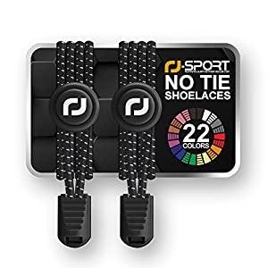 No tie Elastic Lace System with lock - Easy to install in a range of colours. Perfect for runners, children, older generation & active lifestyles - 1 Pair