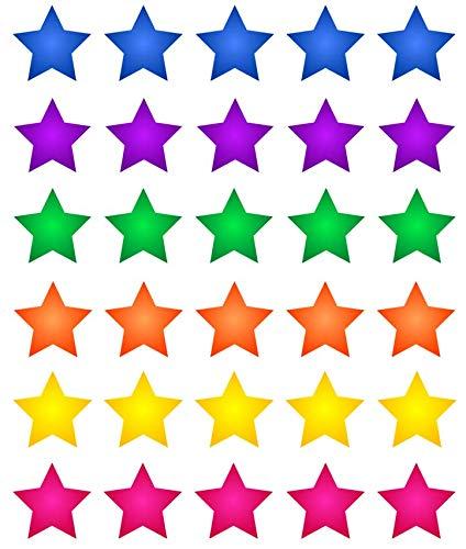 30 estrellas multicolor Cupcake Toppers comestible oblea de ...