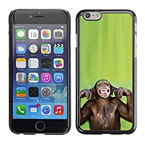 Graphic4You Funny Moneky Animal Design Hard Case Cover for Apple iPhone 6