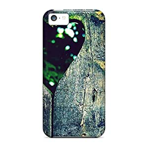 Special Skin Cases Covers For Iphone 5c, Popular Wood Wall Heart Phone Cases