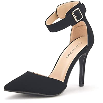 DREAM PAIRS Oppointed-Ankle Women's Pointed Toe Ankle Strap D'Orsay High Heel Stiletto Pumps Shoes. | Pumps