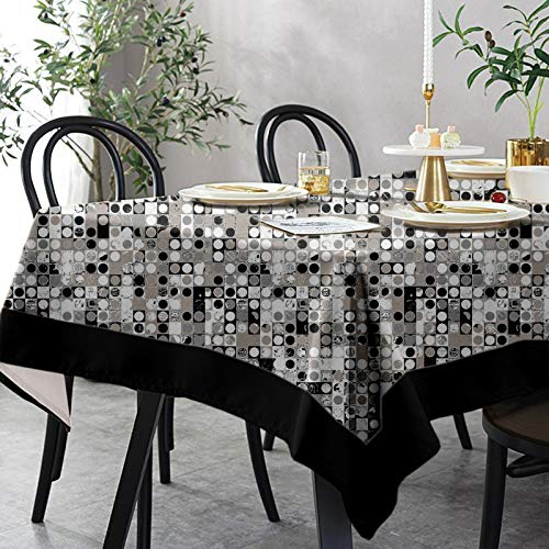 Lushomes 6 Seater Small Coins Printed Table Cloth
