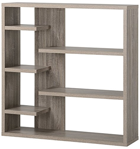 Homestar 6-Shelf Storage Bookcase in Reclaimed Wood by Home Star