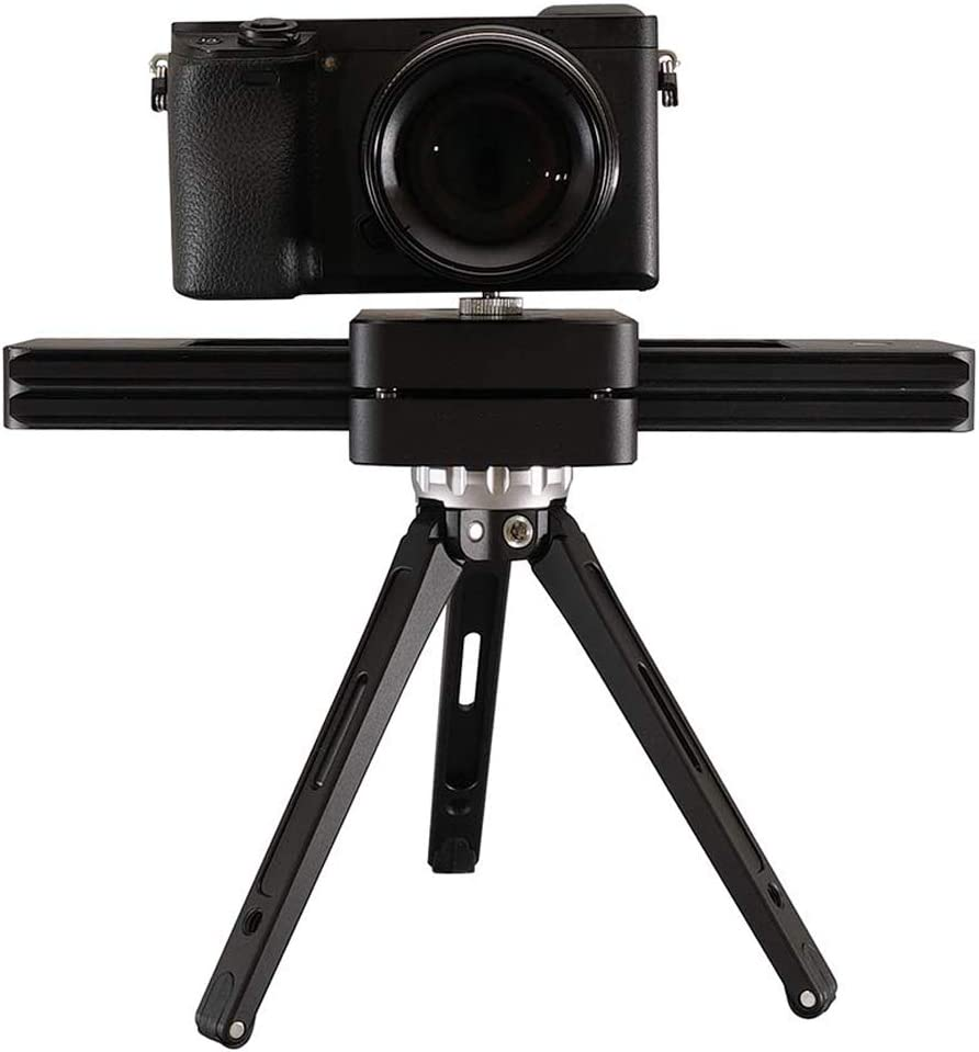 Noblik Camera Slider Portable 9 Inch//23Cm Hydraulic Damping for DSLR Camera Video Vlog Phones