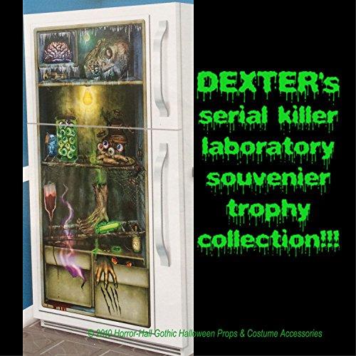 Zombie Laboratory Horror Refrigerator Door Cover Scary Halloween