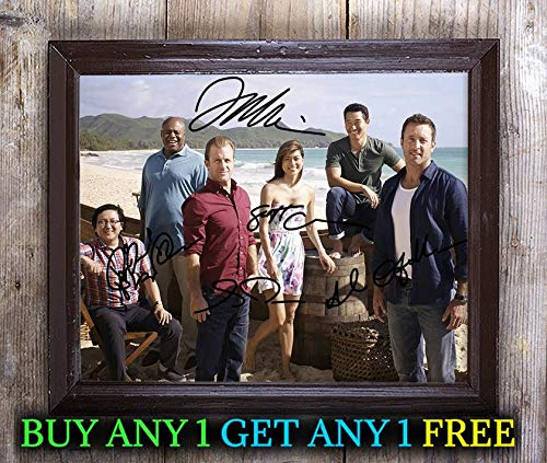 Cast A 8x10 Photo - Hawaii Five-0 Tv Show Cast Autographed Signed 8x10 Photo Reprint #06 Special Unique Gifts Ideas Him Her Best Friends Birthday Christmas Xmas Valentines Anniversary Fathers Mothers Day