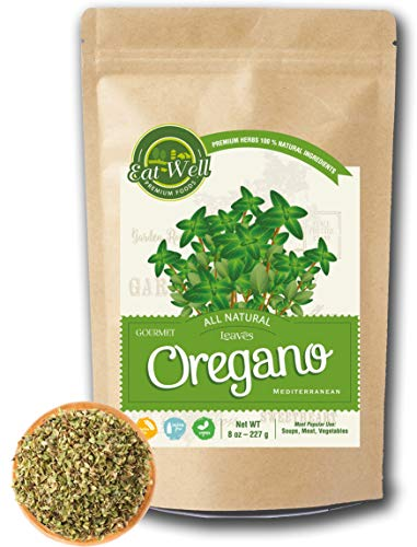 Oregano Leaves | 5 oz - 142 g Reseable Bag, Bulk | Mediterranean Natural Leaf |100% Natural Dried Oregano Leaves | Herbal Tea | Herbs & Spices | Eat Well ()