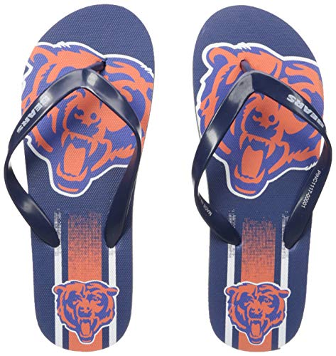 (NFL Chicago Bears Unisex Gradient Big Logo FLIP FLOPCHICAGO Bears Unisex Gradient Big Logo FLIP Flop Medium, Team Color, M)