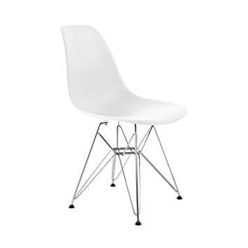Retro Designer Inspired U0027Eiffelu0027 Lounge Dining Chair   White (Multiple  Colours Available)