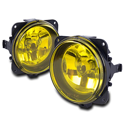 ZMAUTOPARTS 2000-2005 Ford Focus SVT / 2003-2004 Mustang Cobra / 2005-2007 Escape Bumper Driving Fog Lights Yellow (Light Cobra)