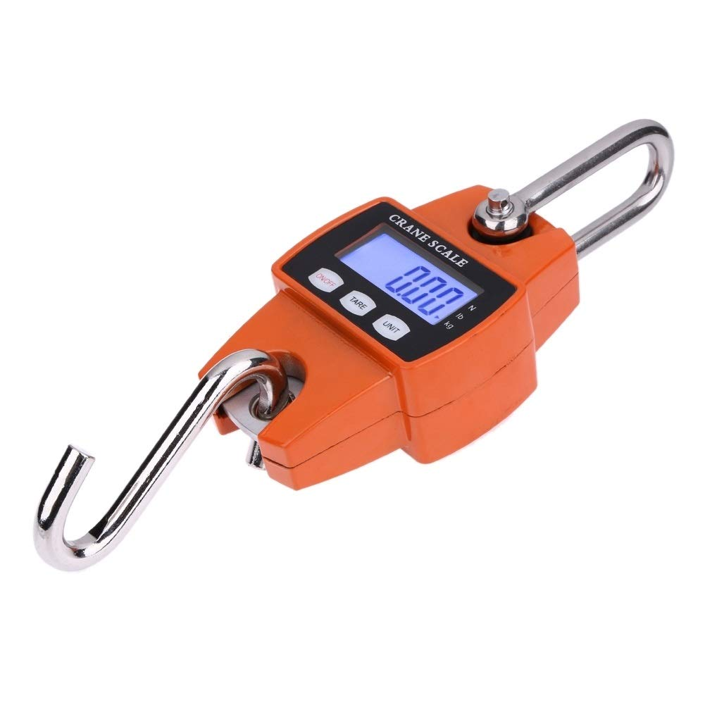 Tangyongjiao Travel Accessories 300kg x 100g Portable LCD Digital Stainless Steel Hook Mini Electronic Hook Scale by Tangyongjiao