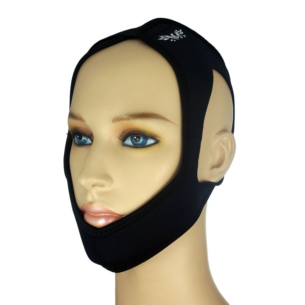 The Claro Adjustable Premium Anti Snoring Chin Strap, Snoring Solution, CPAP Chin Strap, Most Comfortable Stop Snoring Solution & Natural Sleep Aid with Instant Snore Relief and Ease Breathing (Black)