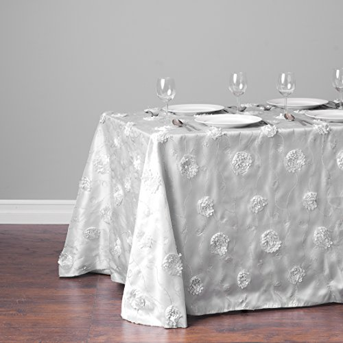 88 x 154 Inch Rose Sequin Tablecloth