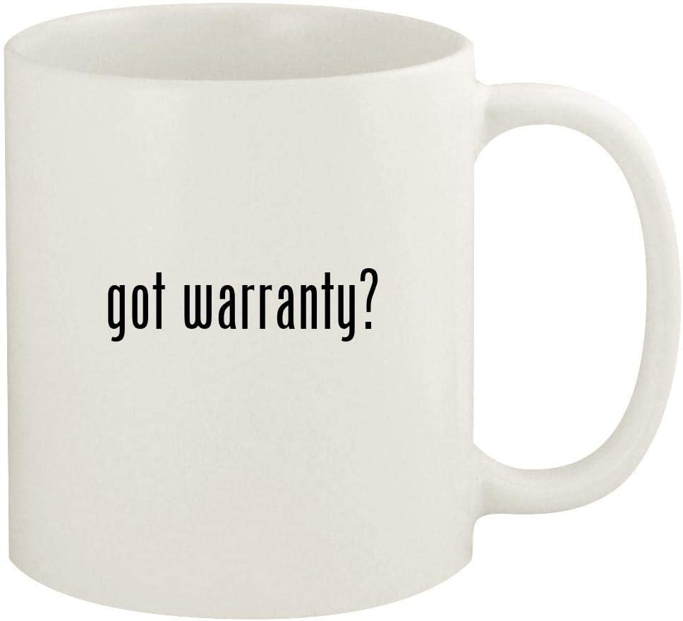 got warranty? - 11oz Ceramic White Coffee Mug Cup, White