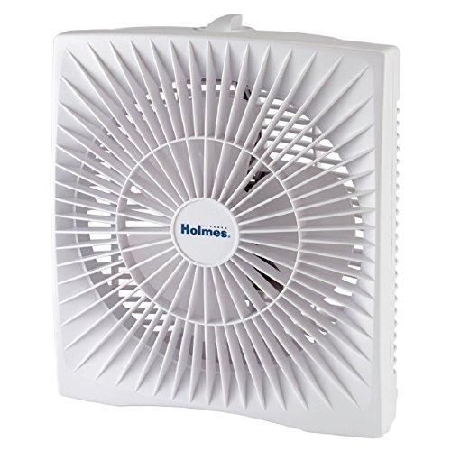 Holmes 10-inch Personal Size Box Fan, HABF120W (Window Box Fan)