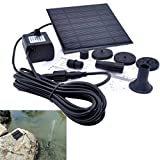 A-SZCXTOP 1.4 Watt Solar Water Pump Garden Fountain Submersible Pump Black Submersible Pump with Suckers for Water Cycle Pond Fountain Rockery Fountain