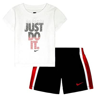 93bae837f3aa Image Unavailable. Image not available for. Color: Nike Baby Boy Tee & Shorts  Set ...