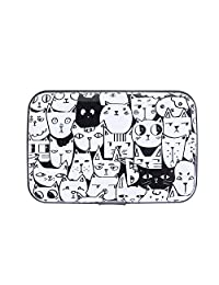 HDE Aluminum RFID Blocking Wallet Identity Protection Travel Credit Card Case (A Thousand Cats)