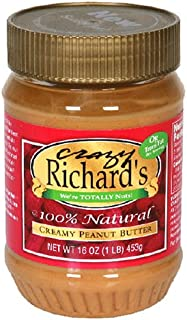 product image for Crazy Richard Creamy Peanut Butter, 16 oz, 12 Piece