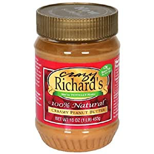 Crazy Richard's Creamy Peanut Butter, 16-Ounce Plastic Jars (Pack of 6)