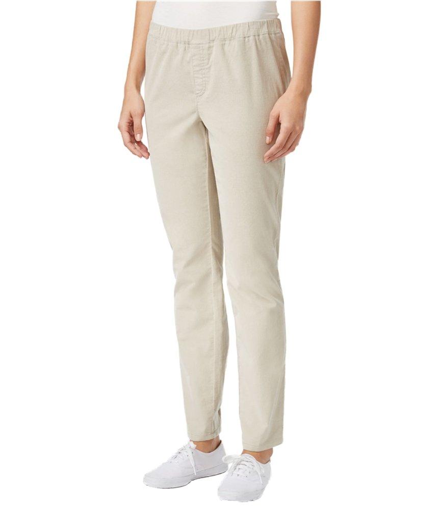 Karen Scott Womens Corduroy Casual Trousers stonewall PM/29