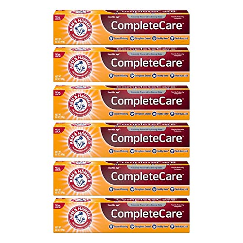 ARM & HAMMER Complete Care Fluoride Anticavity Toothpaste, Fresh Mint 6 oz (Pack of 6) Arm Hammer Enamel Care Toothpaste