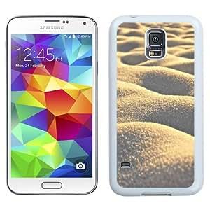 NEW Unique Custom Designed Samsung Galaxy S5 I9600 G900a G900v G900p G900t G900w Phone Case With Sand Dunes Close Up_White Phone Case