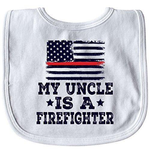 ter Uncle Fireman Nephew Baby Bib White 2ec67 ()