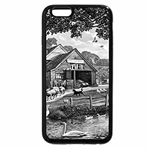 iPhone 6S Case, iPhone 6 Case (Black & White) - Country life...