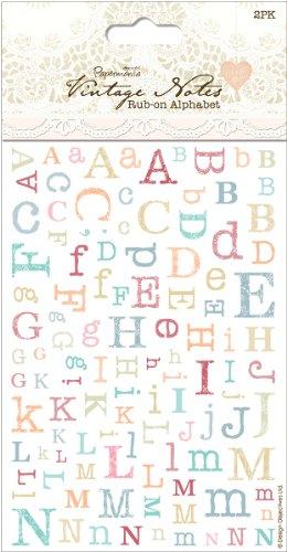 (Papermania Vintage Notes Rub-Ons 2/Sheets-Alphabet 1 pcs sku# 1773944MA)