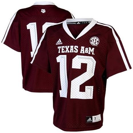 2154a88e3 Amazon.com   NCAA adidas Texas A M Aggies  12 Preschool Replica ...