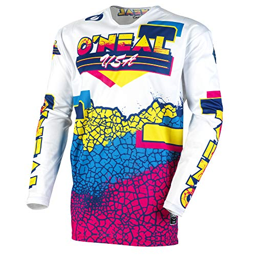 O'Neal Mayhem Crackle 91 Adult Jersey (Yellow/White/Blue, L) ()