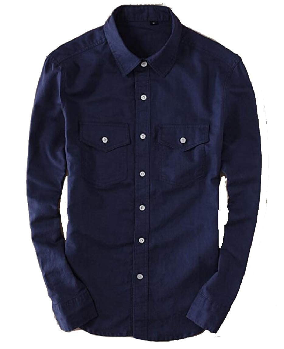 omniscient Mens Shirt Casual Loose Long Sleeve Linen Cotton Button Down Shirt