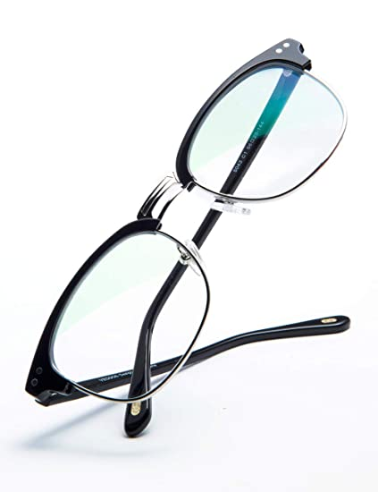 5ac9ccbfe1 Image Unavailable. Image not available for. Color  VEGOOS Blue Light  Blocking Glasses for Men Women Anti Glare Semi Rimless Computer Glasses  Anti Eye