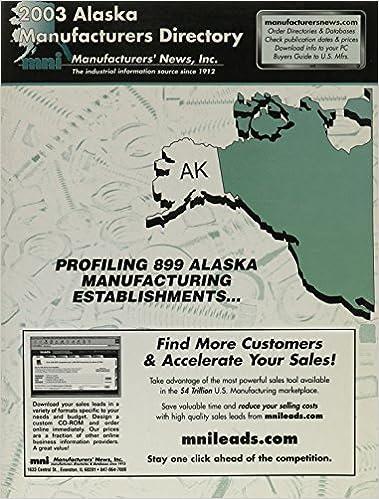 2003 Alaska Manufacturers Directory